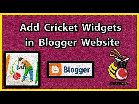 how to add live cricket score in blogger website  [ hindi / urdu ]