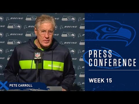 Seahawks Head Coach Pete Carroll Postgame Press Conference At 49ers