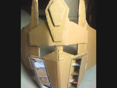 homemade optimus prime mask