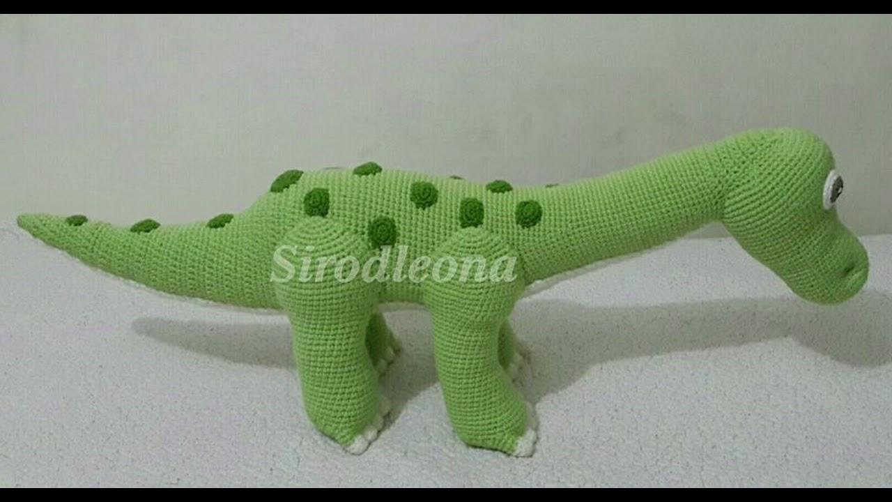 Dinosaurio Cuello Largo tejido a crochet - YouTube