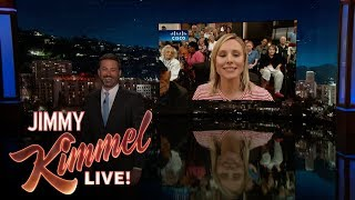 Jimmy Kimmel Talks to Kristen Bell in Orlando After Hurricane Irma thumbnail