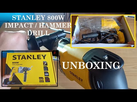 Stanley 800W Impact Drill STDH7213- Unboxing