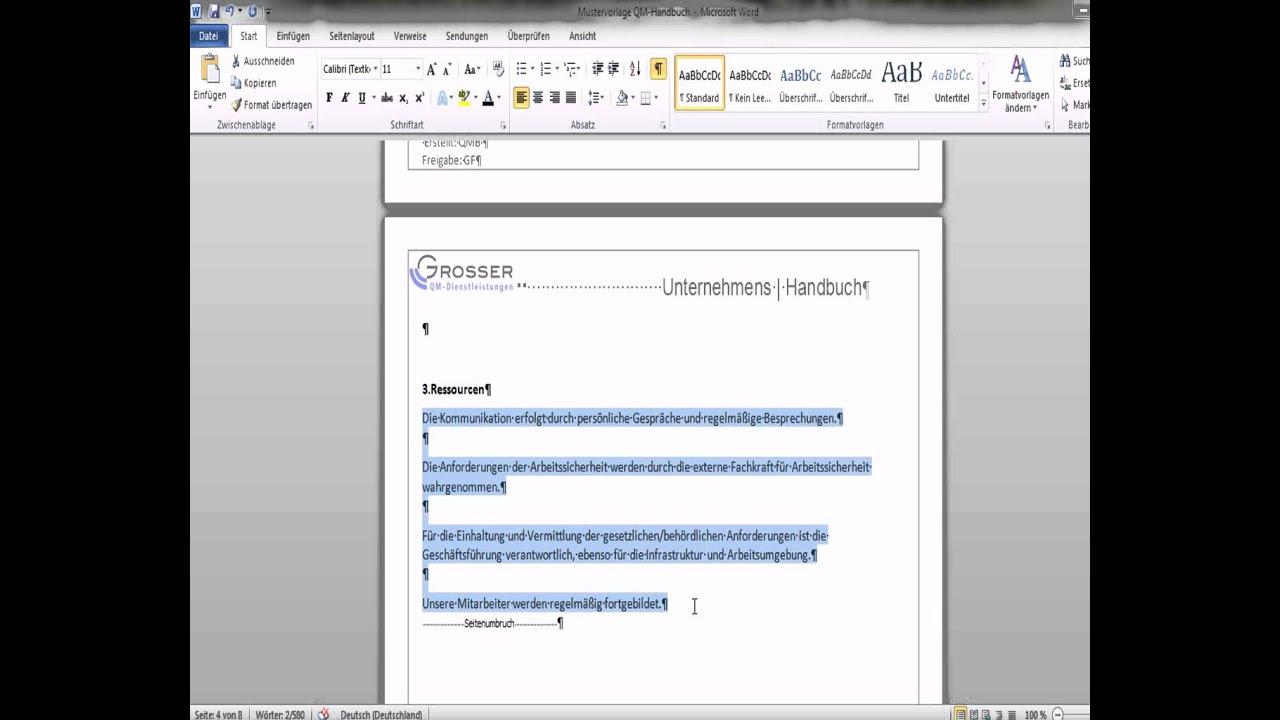 QM Handbuch erstellen - YouTube