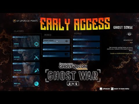 GHOST WAR - Early Access! Class Perks, Class Bonus, And MORE!