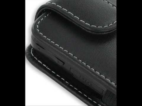 PDair Leather Case for Samsung Behold SGH-T919 - Vertical Pouch Type Belt clip included (Black)
