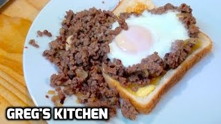 CHILI BEEF EGG ON TOAST - Gregs Kitchen