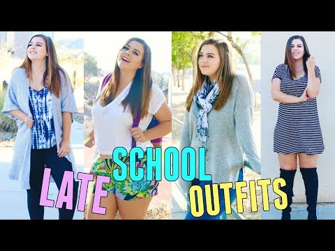 5 RUNNING LATE OUTFIT IDEAS FOR BACK TO SCHOOL! EASY + FLATTERING OUTFITS FOR SCHOOL! CURVY FASHION!