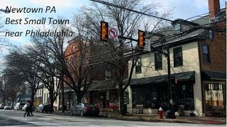 Newtown PA, Best Small Towns to Live near Philadelphia, Upper Makefield Township Pennsylvania