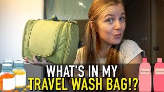 What's REALLY In My Travel Wash Bag?!