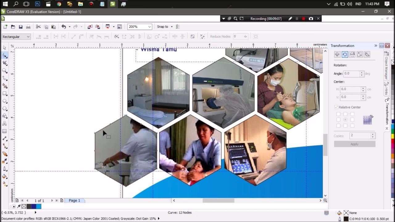 Tutorial Membuat Brosur Menggunakan Coreldraw X5 Youtube