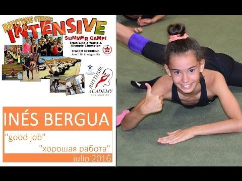 Inés Bergua en Campus Rhythmic Academy Los Angeles julio2016