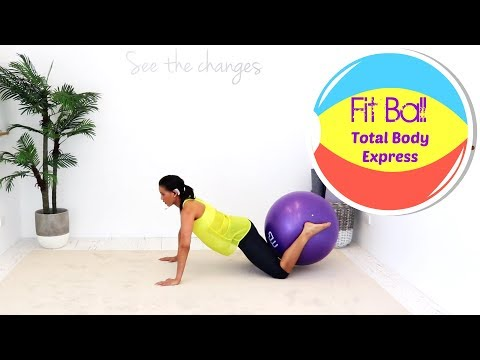 Exercise Ball Stability Ball Workout - BARLATES BODY BLITZ Fit Ball Total Body Express