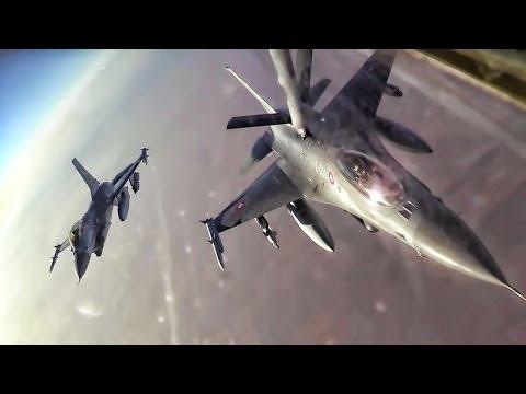 Refueling U.S. E-3 Sentry & Danish F-16AMs Over Iraq