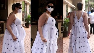 Kareena Kapoor Looks very fat in second pregnancy snapped at bandra