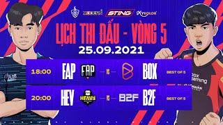 FAP ESPORTS vs BOX GAMING   HEAVY vs B2F GAMING - Vòng 5 ĐTDV mùa Đông 2021 screenshot 4