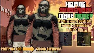 GTA 5 Online | DOOMSDAY Setups $500k Prep & MC Missions | +Lobby Kills | Helping Sub Make Money #8