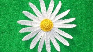 Как связать ромашку - Crochet camomile - 2 часть - вязание лепестков