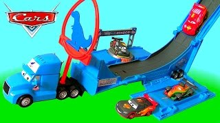 Disney Cars Dinoco Gray Hauler Drop & Jump Playset from Story Sets Kids Toy Transporter Truck Ramp