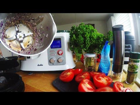 Zwiebeln anbraten + Tomatensoße - Test   Küchenmaschine mit Kochfunktion   Aldi Süd - studio