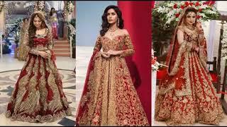 0a11c1c832 Best Pakistani Bridal Wedding Dresses for Walima Functions Chiffon Fashion  2018 Latest ...