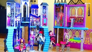 MONSTER HIGH SCHOOL PLAYSET Unboxing Toys Review | itsplaytime612