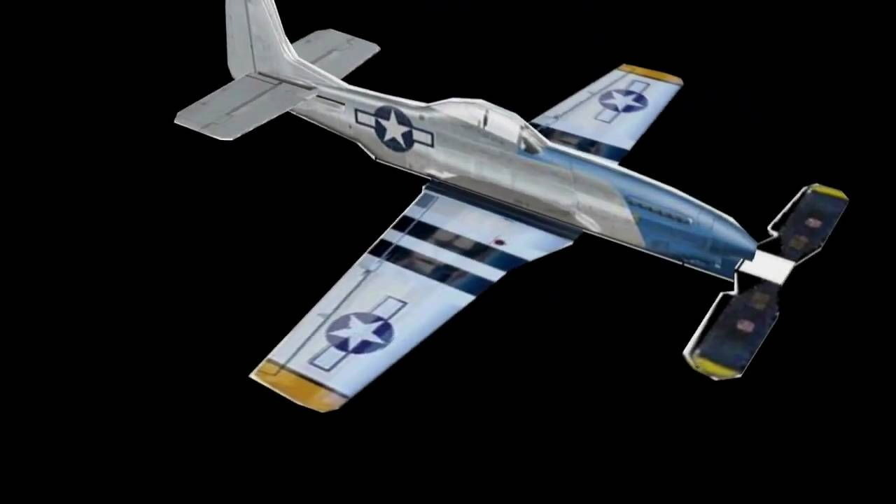 Micro Paper P 51 Mustang With Rubber Band Powered
