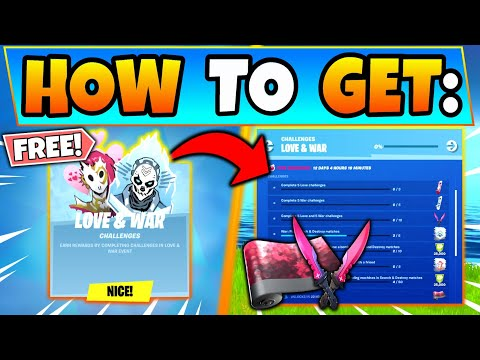 Fortnite LOVE AND WAR CHALLENGES GUIDE/SEARCH And DESTROY! New Update In Battle Royale!