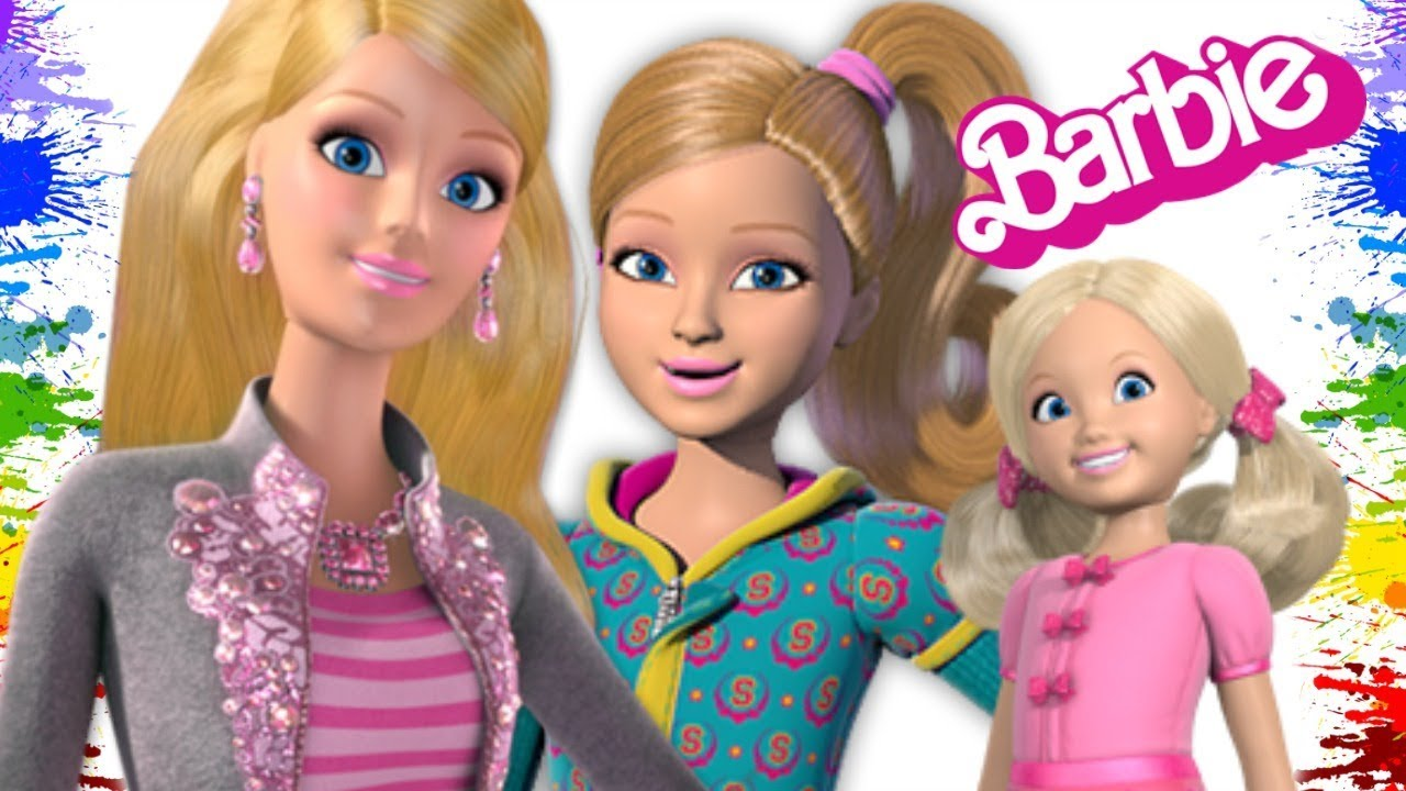 Desenhos Das Irmas Da Barbie Girl Para Colorir Criancas Brincando