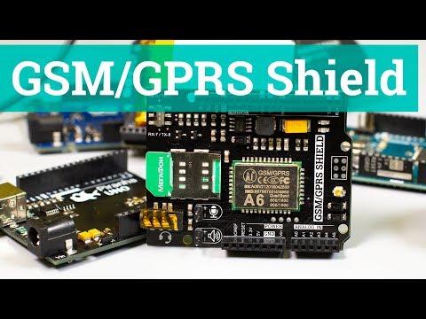 GSM/GPRS Shield, модуль A6 для Arduino/Piranha