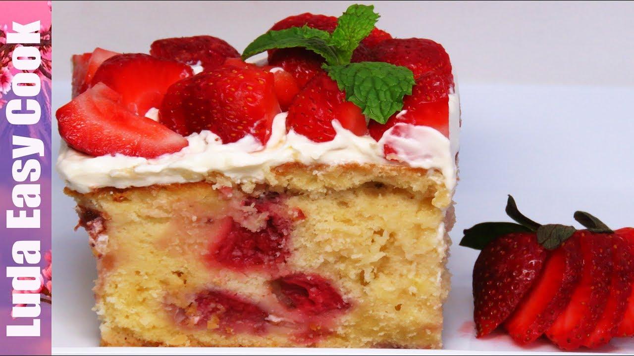 Самый КЛУБНИЧНЫЙ Пирог ТРИ МОЛОКА! Очень нежный и влажный! | STRAWBERRY 3 MILK CAKE