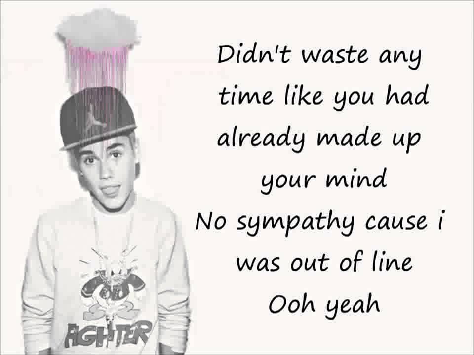 Justin Bieber Bad Day LYRICS - YouTube