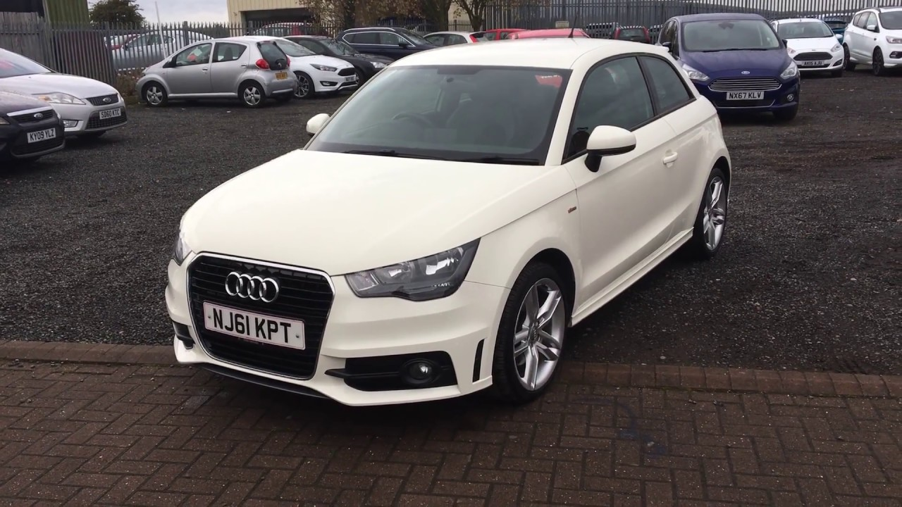 used audi a1 1 6 tdi s line 3dr white 2011 youtube. Black Bedroom Furniture Sets. Home Design Ideas
