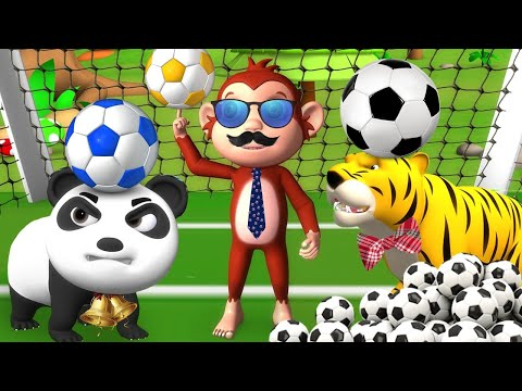 Monkey Elephant & Animals Play Soccer Game in Forest | Funny Animals comedy Videos | Soccer Game