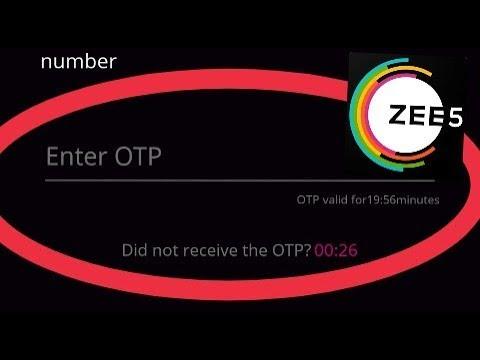 Zee5 || Confirmation And Verification Code Problem Solve (OTP)