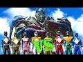 OPTIMUS PRIME vs POWER RANGERS (BLACK, BLUE,FEMALE YELLOW,GREEN,PINK,RED,WHITE,YELLOW) - EPIC BATTLE