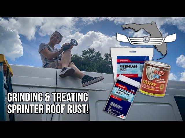 Repairing Roof Rust Holes in a T1N Sprinter!