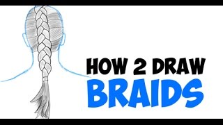 How To Draw Braids On People Easy In Hair For Kids And Beginners Step By Step Drawing Tutorial