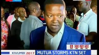 Dr Alfred Mutua storms KTN live set in Machakos