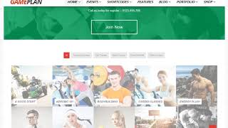 Gameplan Wordpress Theme Review & Demo | Event and Gym Fitness WordPress Theme | Gameplan Price & How to Install