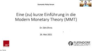 Vortrag zu Modern Monetary Theory (MMT) am Schumpeter Centre der Universität Graz am 26. Mai 2021