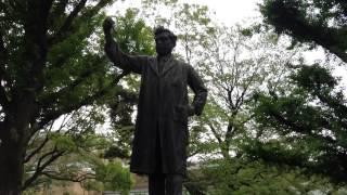 上野公園 野口英世銅像.