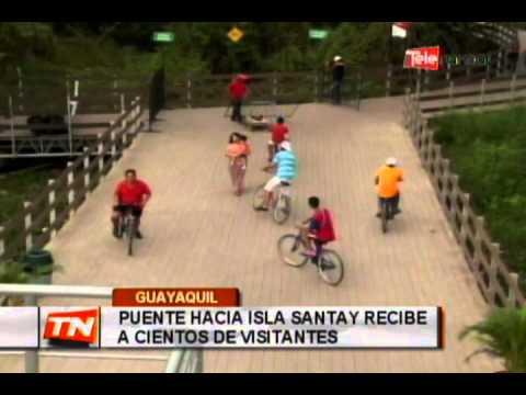Puente hacia isla Santay recibe a cientos de visitantes