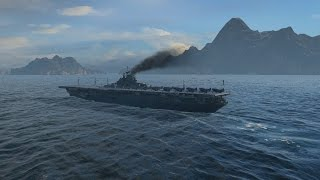 world of warships uss carrier essex gameplay 193000 damage 6 kill