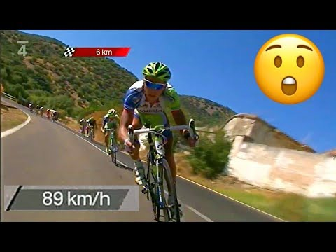 Peter Sagan 89K/H DESCENT ATTACK with Nibali : First Grand Tour Victory
