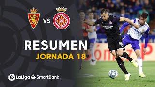 Resumen de Real Zaragoza vs Girona FC (3-3)