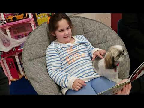 Fort Salonga Elementary School   Reading to Woof