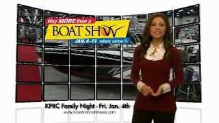 Jennifer Reyna  Channel 2 at Houston Boat Show January 4, 2013