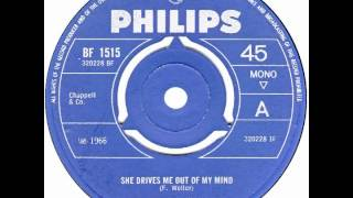 "Swingin' Medallions – ""She Drives Me Out Of My Mind"" (UK Philips) 1966"