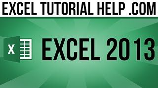 Excel 2013 Tutorial:  MOS Certification Practice 2.3d
