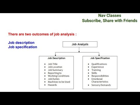 Job Analysis  Human Resource Management  In Hindi  Class   Youtube